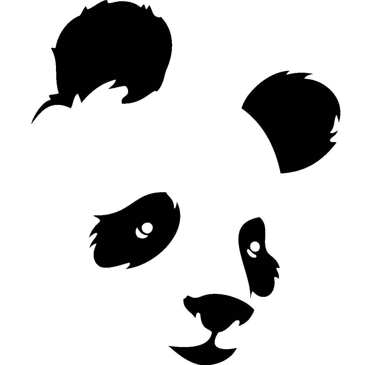 Chambre En Anglais : Panda Wall Decal