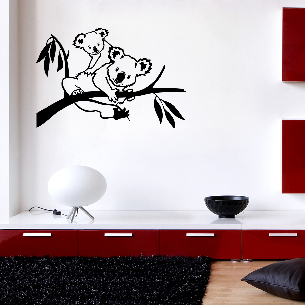 stickers muraux animaux sticker famille koala ambiance. Black Bedroom Furniture Sets. Home Design Ideas