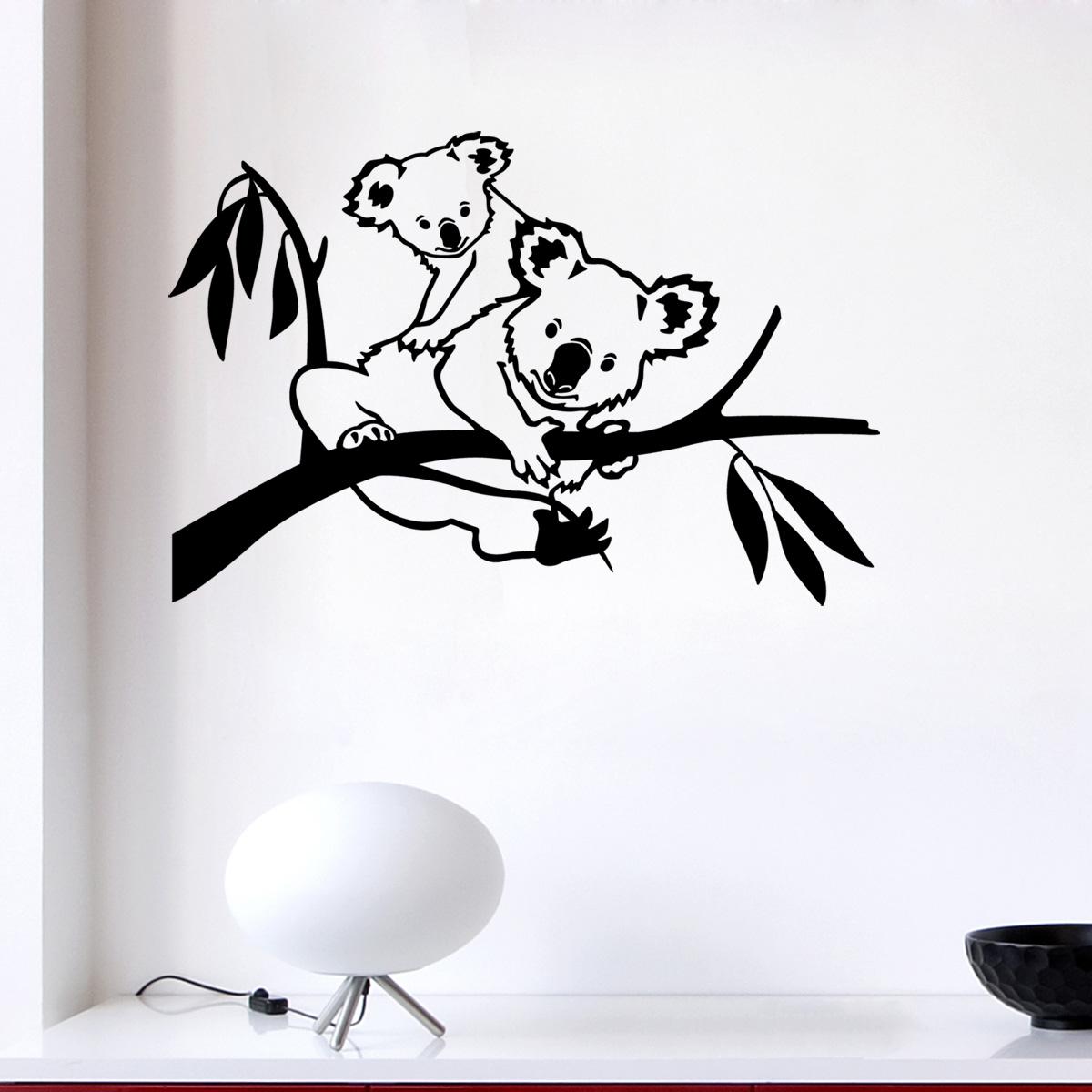 Stickers muraux animaux sticker famille koala ambiance - Stickers koala chambre bebe ...
