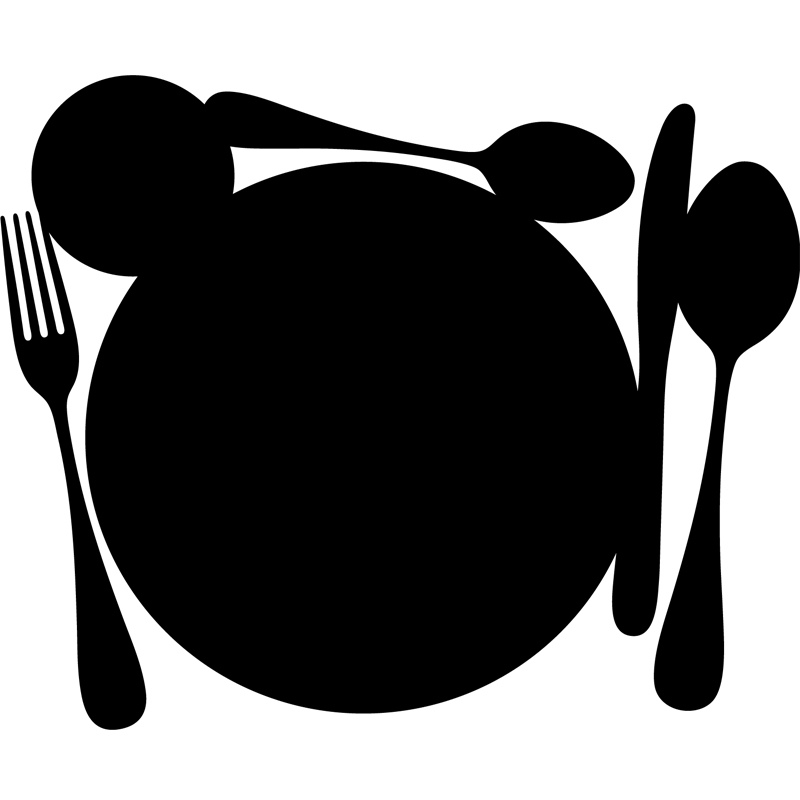 sticker ardoise cuill res couteau fourchette et assiette stickers cuisine ambiance sticker. Black Bedroom Furniture Sets. Home Design Ideas
