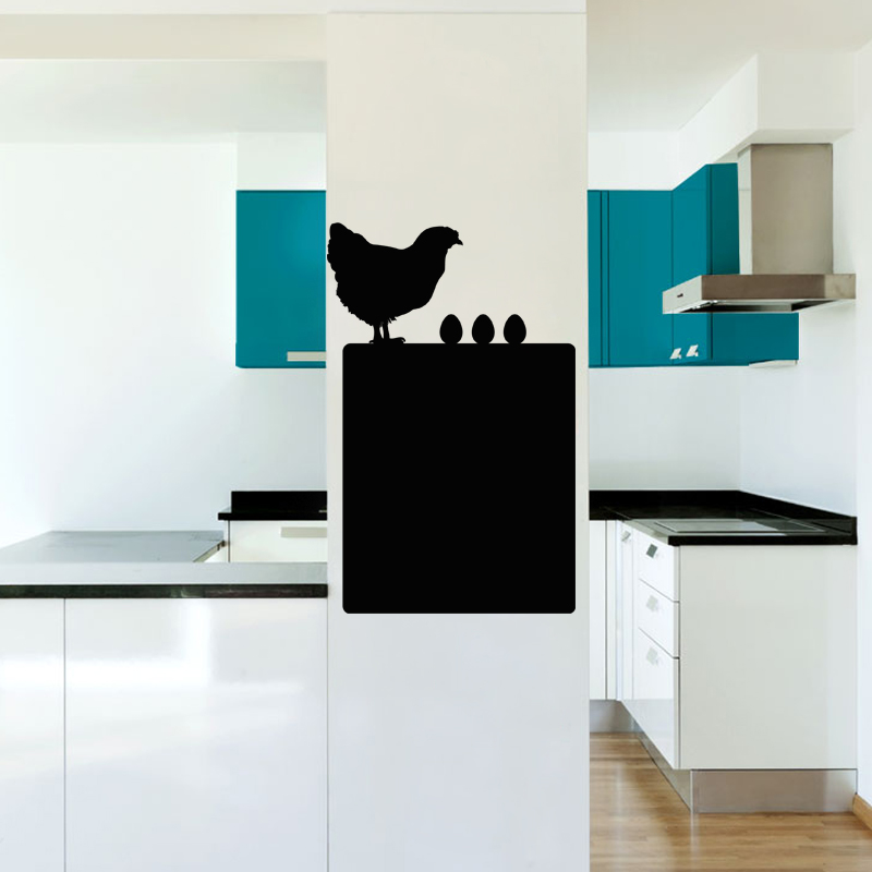 sticker ardoise poule avec ses oeufs stickers cuisine ambiance sticker. Black Bedroom Furniture Sets. Home Design Ideas
