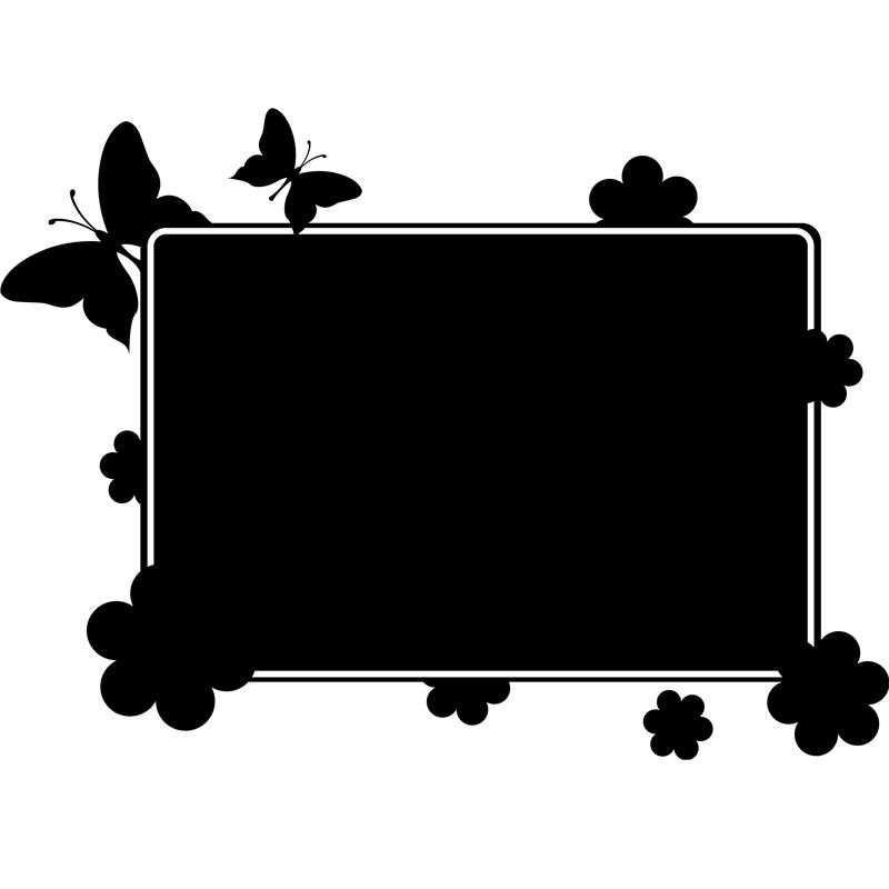sticker ardoise papillons dans un champ stickers salle. Black Bedroom Furniture Sets. Home Design Ideas