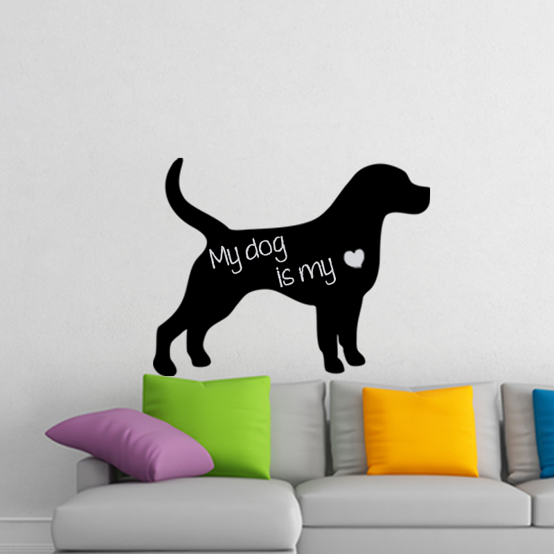 stickers tableaux et ardoises sticker ardoise silhouette chien ambiance. Black Bedroom Furniture Sets. Home Design Ideas