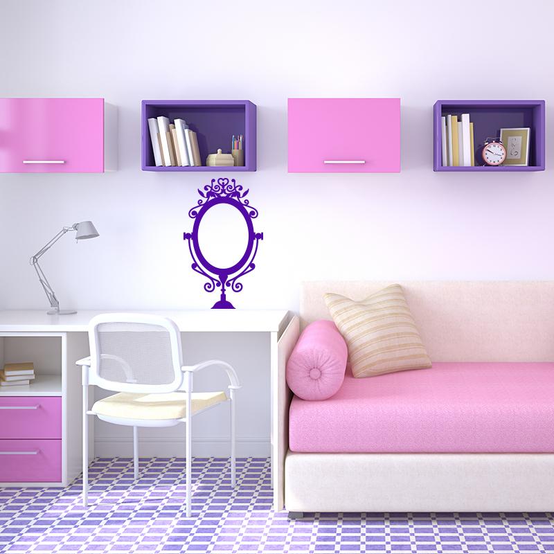 Sticker cadre baroque pour miroir stickers art et design - Stickers baroque pour meuble ...
