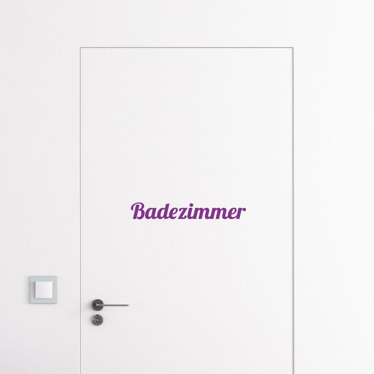 Sticker muraux pour portes sticker porte signal tique de la maison en allem - Stickers pour maison ...