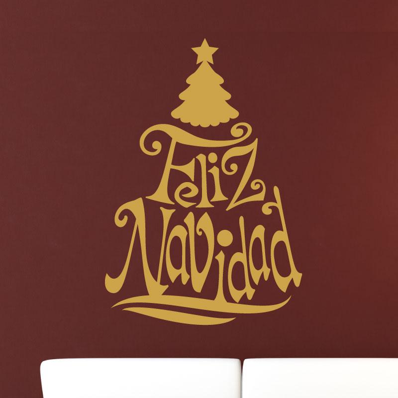sticker arbre no l texte espagnol stickers no l. Black Bedroom Furniture Sets. Home Design Ideas