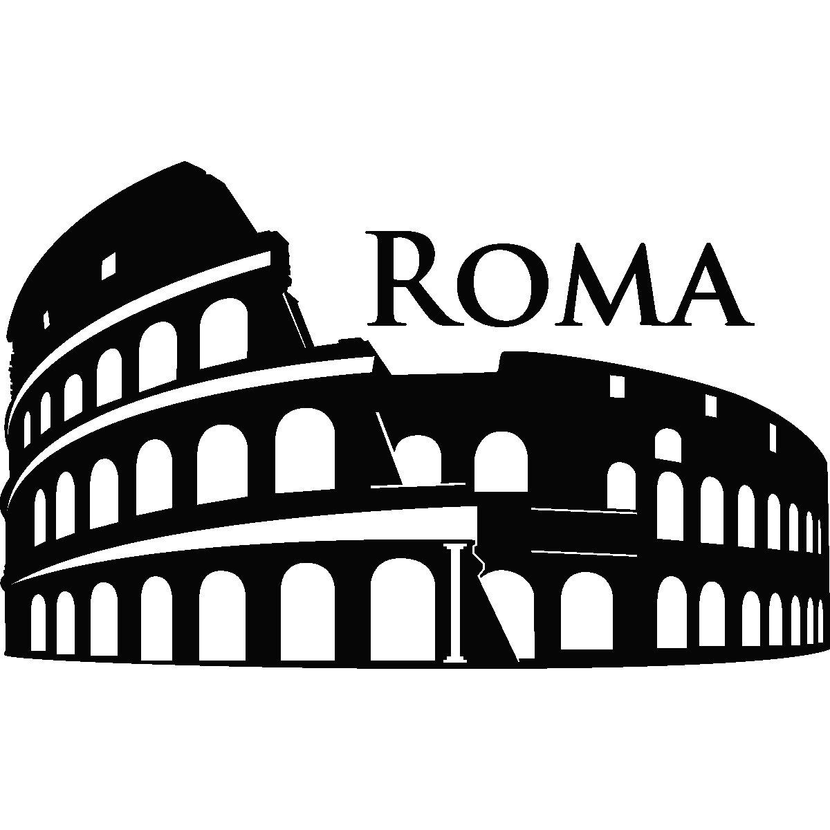 Stickers muraux pays et villes sticker rome colis e for Wall stickers roma