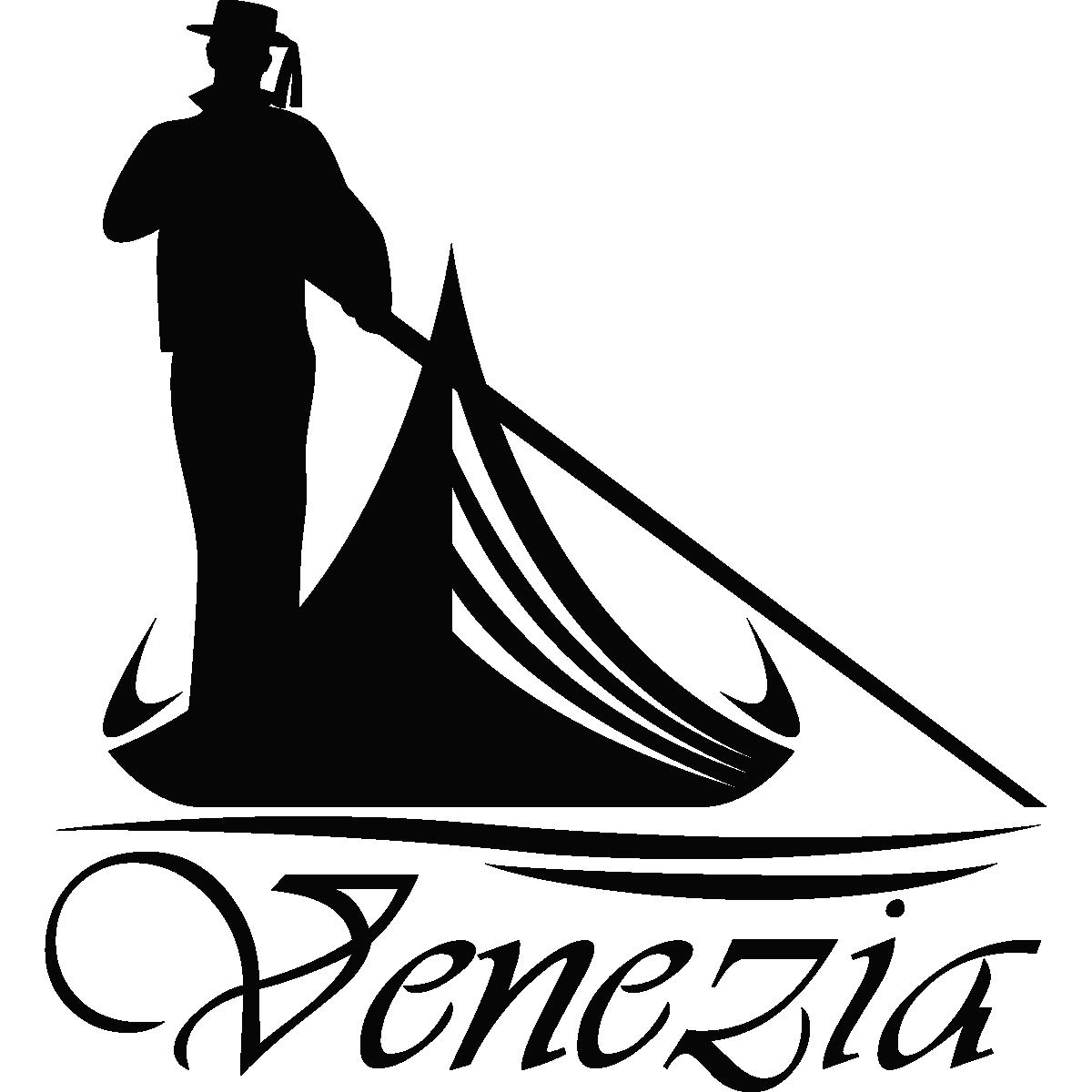 Couleur Salle De Bain Zen : Venice Gondola Silhouette