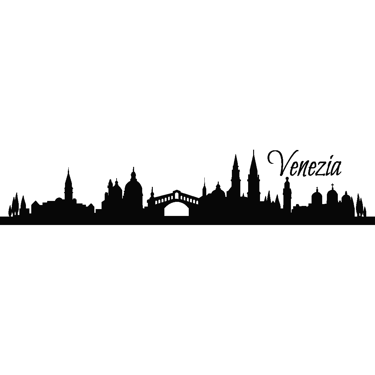 City wall decals wall decal venice skyline 2 ambiance sticker com