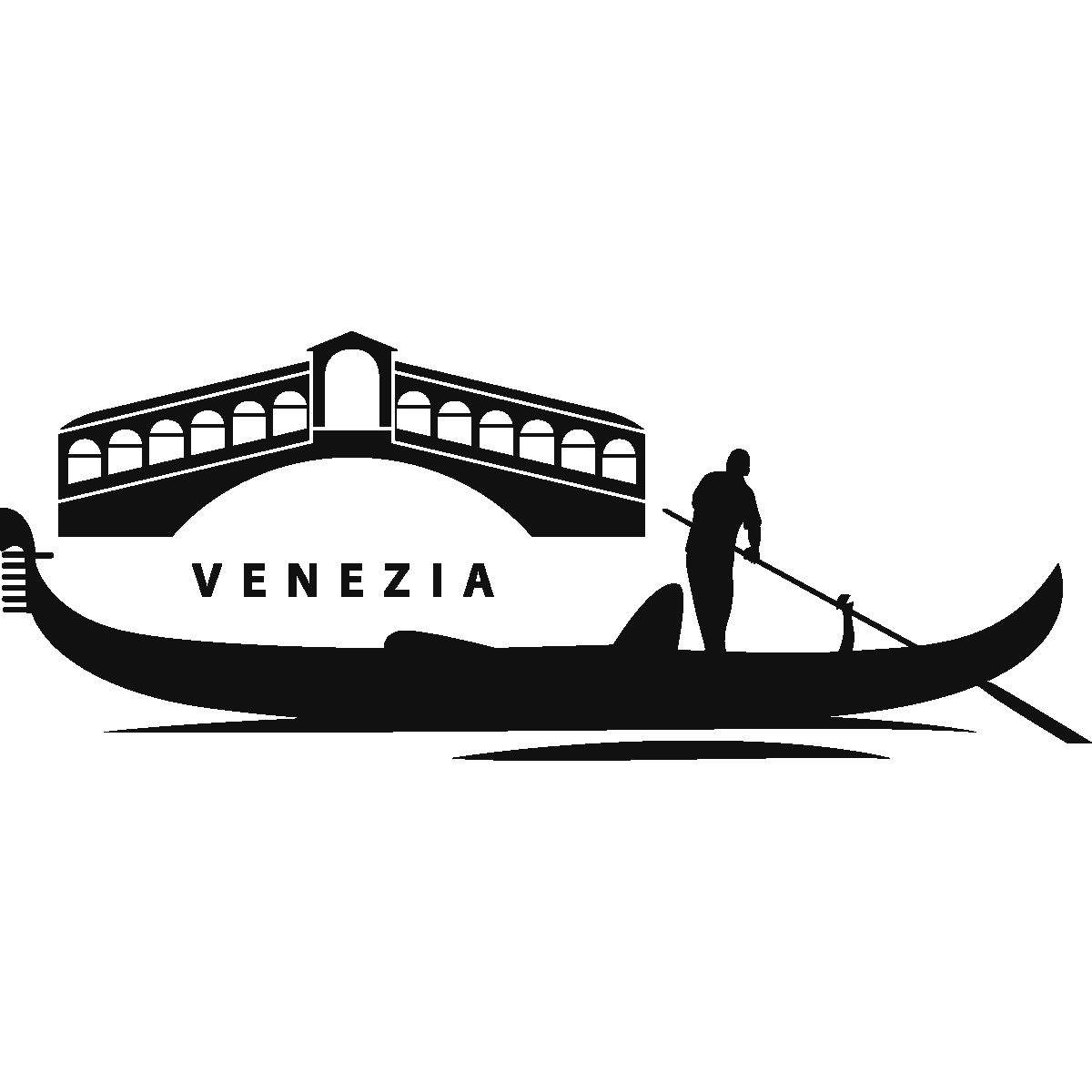 Stickers Muraux Pays Et Villes Sticker Venise Gondole