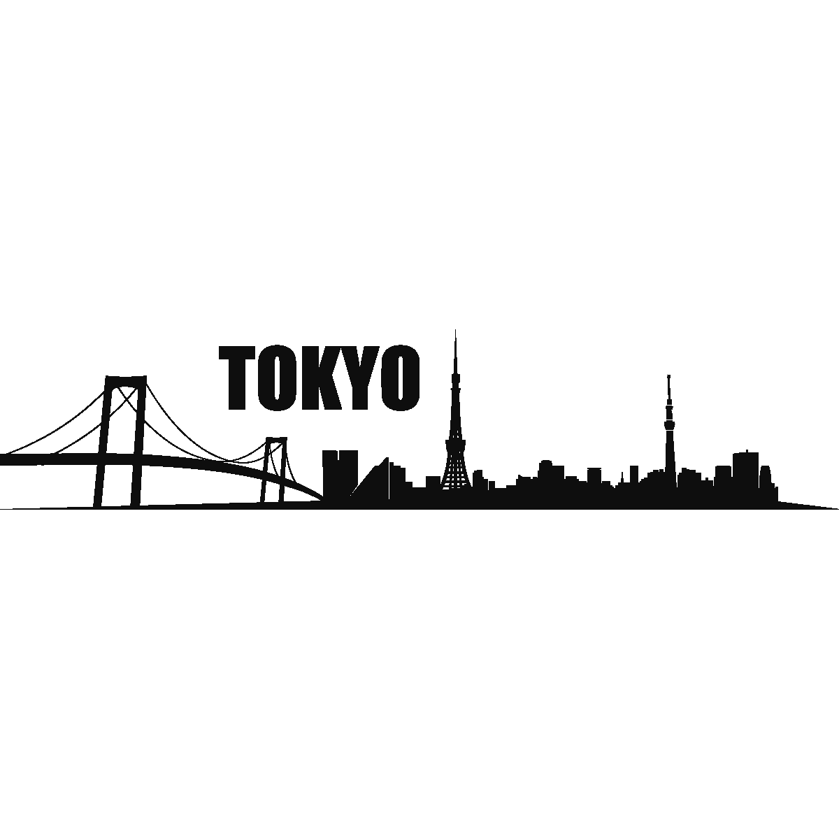City Wall Decals Wall Decal Tokyo Skyline 1 Ambiance