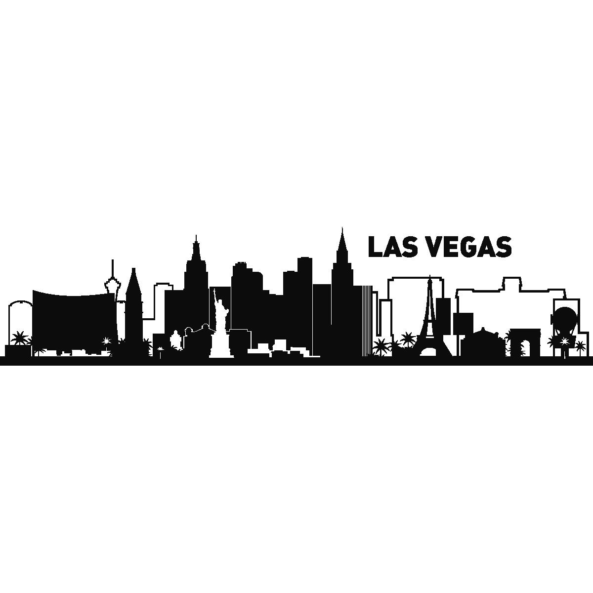 Stickers muraux pays et villes sticker las vegas horizon for Las vegas skyline tattoo