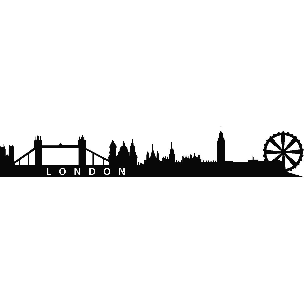 Stickers muraux pays et villes sticker london skyline 2 - Stickers porte london ...