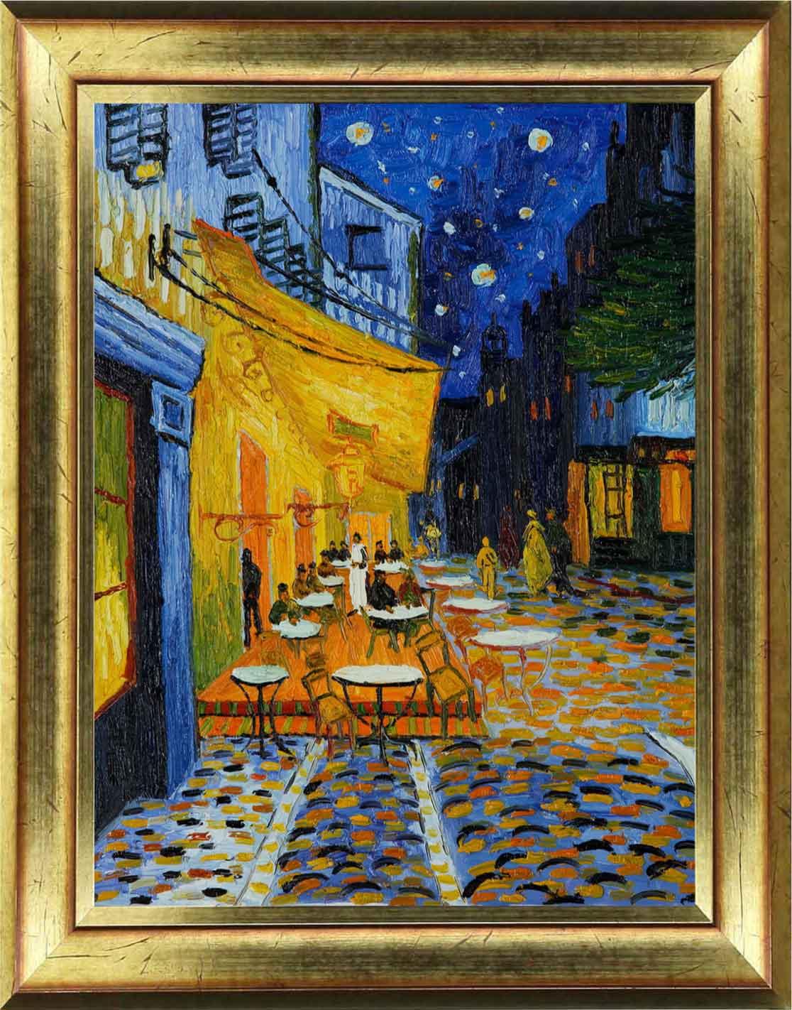 Sticker tableau van gogh caf terrasse la nuit arles stickers villes et voyages pays et - Van gogh comedores de patatas ...