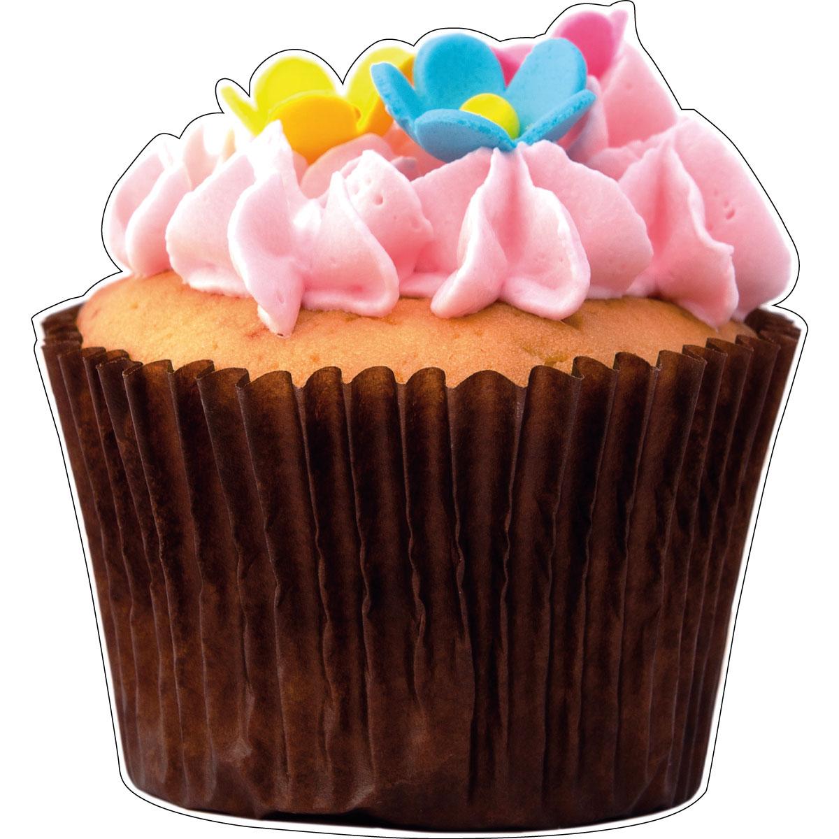 Muurstickers voor keuken muursticker decoratieve bloem cupcake ambiance - Deco kamer stijl engels ...