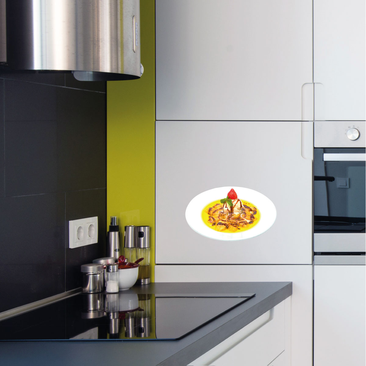 stickers muraux pour la cuisine sticker dessert avec. Black Bedroom Furniture Sets. Home Design Ideas