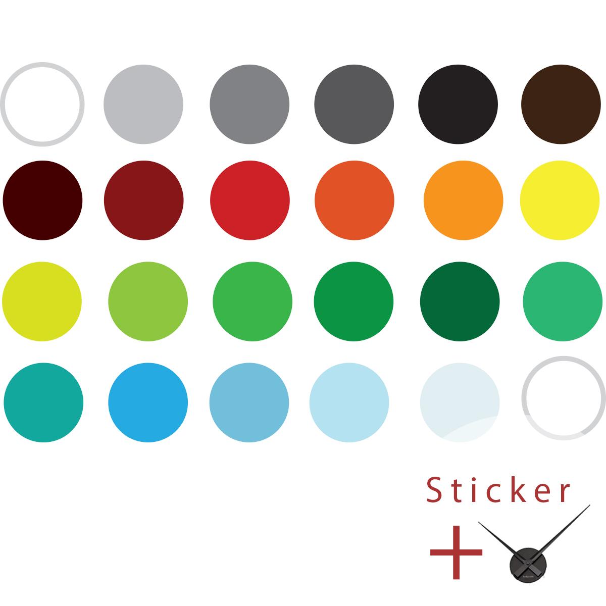 Stickers horloges cercles color s ambiance - Horloge murale design italien ...