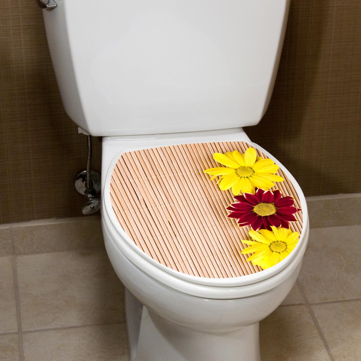 stickers muraux pour wc sticker mural tapis de bambou et des fleurs ambiance. Black Bedroom Furniture Sets. Home Design Ideas