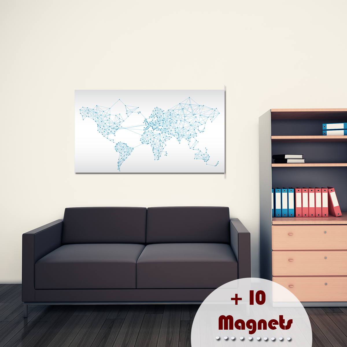 papier peint magn tique sticker papier peint magn tique mundo ambiance. Black Bedroom Furniture Sets. Home Design Ideas
