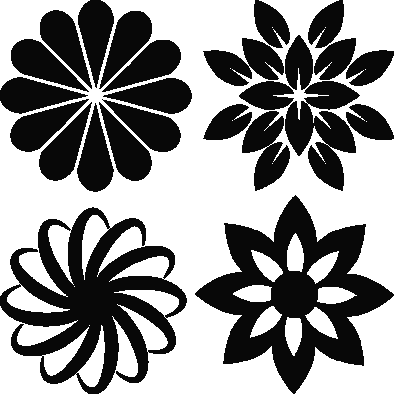 Muurstickers bloemen muursticker sierbloemen ambiance - Deco kamer stijl engels ...
