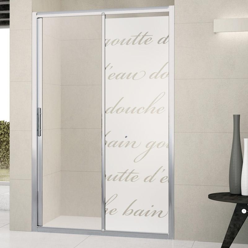 Mursticker deur van douche literaire douche muurstickers kunst en design verticale strepen - Deco kamer stijl engels ...