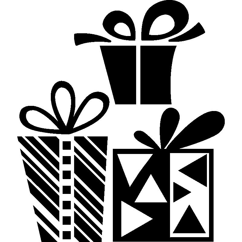 stickers cadeaux de no l design. Black Bedroom Furniture Sets. Home Design Ideas