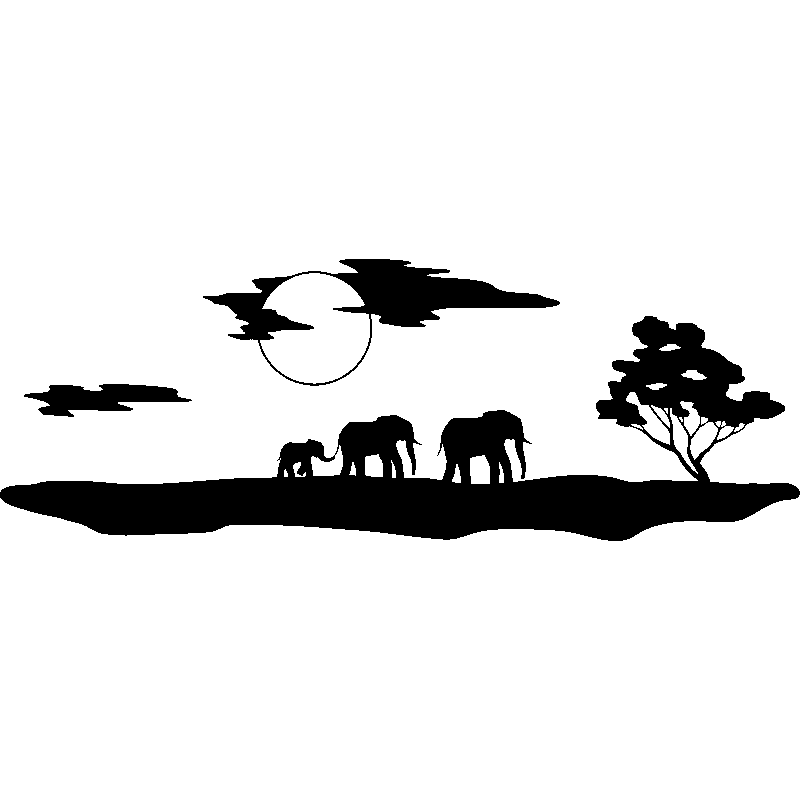 african sunset silhouette png file