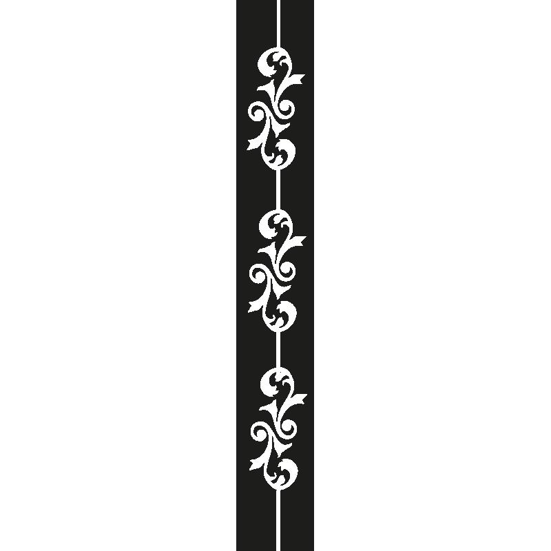 Stickers muraux pour chambre sticker mural baroque - Stickers baroque pour meuble ...