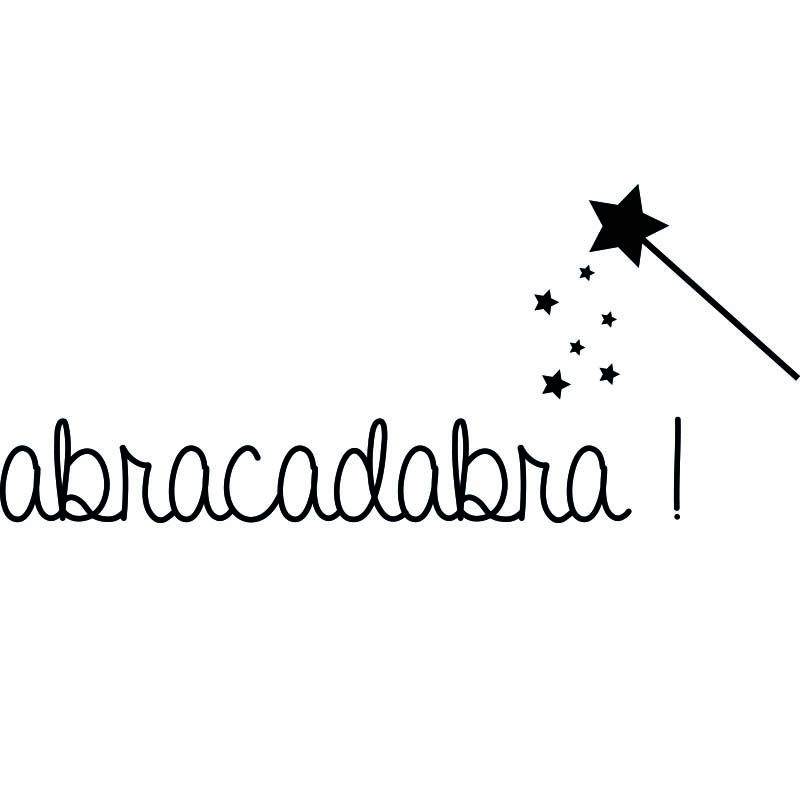 Stickers muraux citations sticker abracadabra ambiance for Abracadabra salon