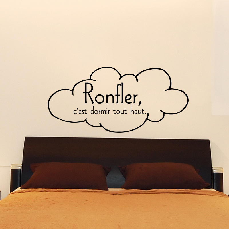 stickers muraux pour chambre sticker mural ronfler c 39 est ambiance. Black Bedroom Furniture Sets. Home Design Ideas