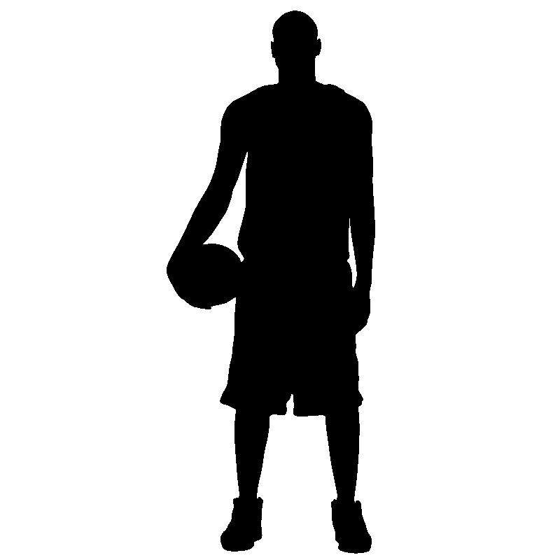 Muurstickers sport en voetbal muursticker basketball player ambiance - Deco kamer stijl engels ...