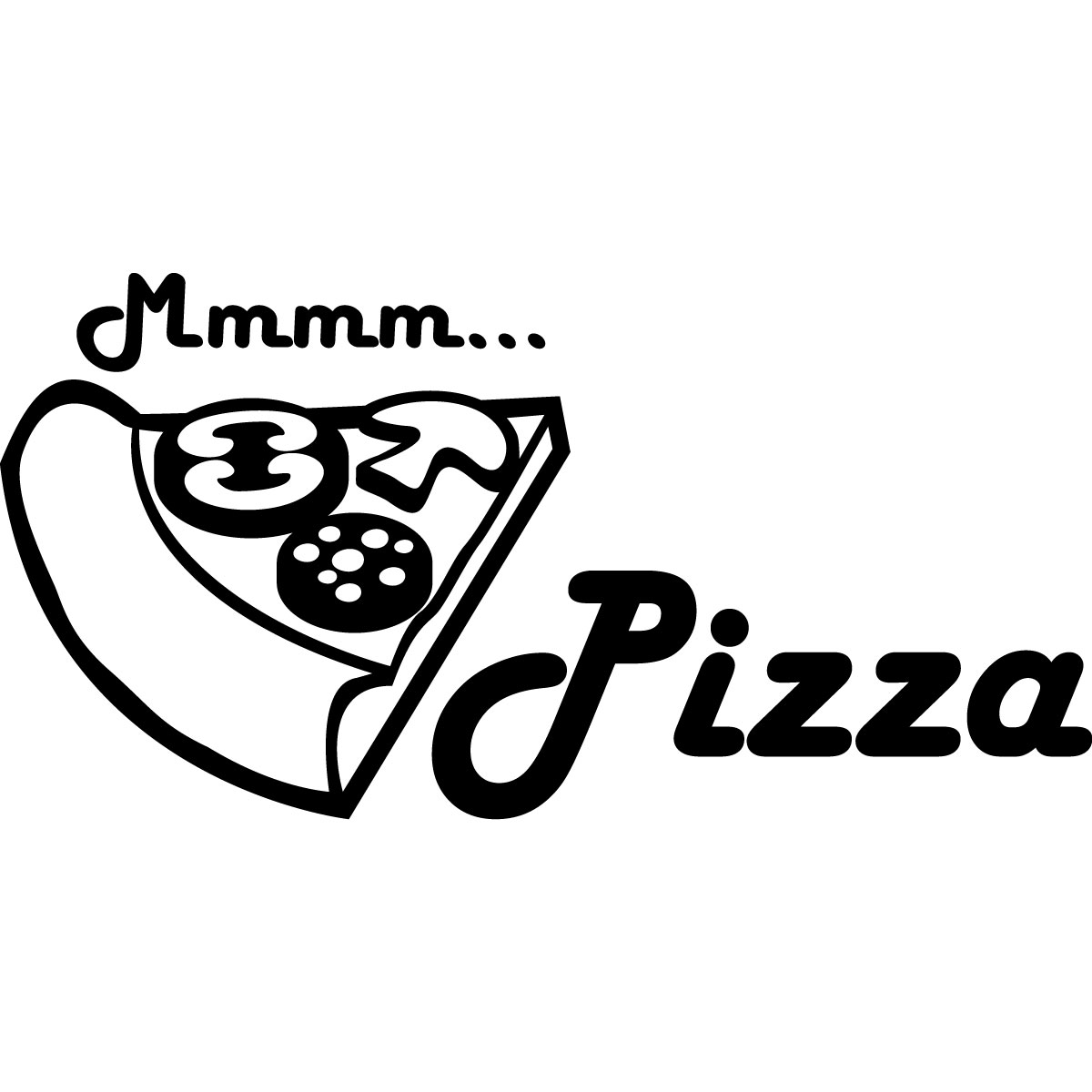 stickers muraux pour la cuisine sticker mmm pizza ambiance. Black Bedroom Furniture Sets. Home Design Ideas