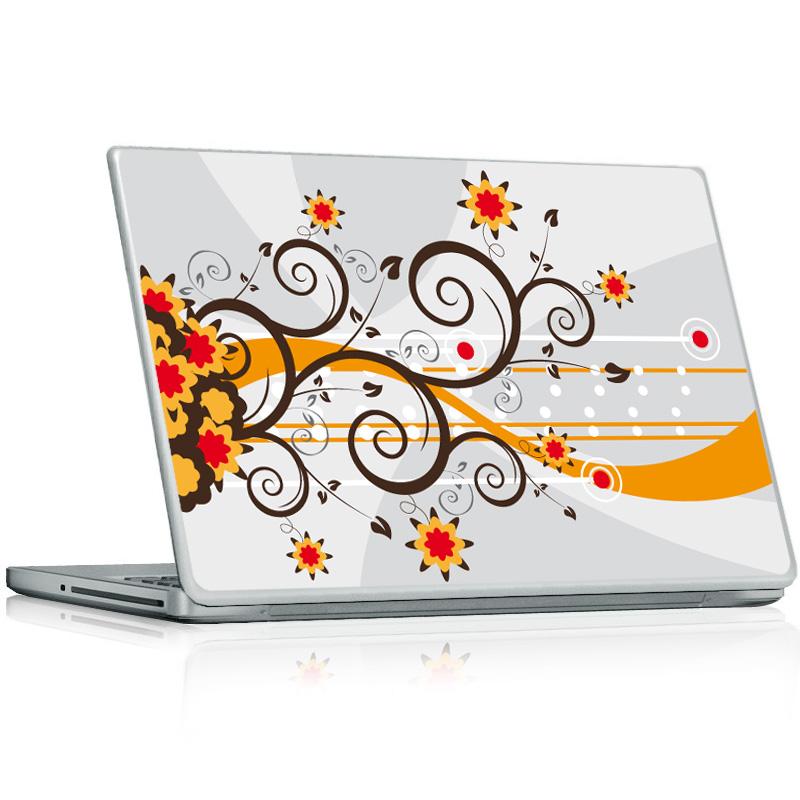 stickers ordinateur pc mac fleurs designs. Black Bedroom Furniture Sets. Home Design Ideas