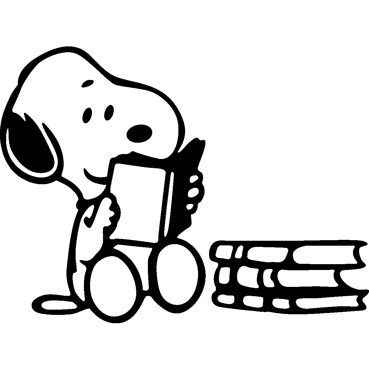 Pc and mac laptop skins skin snoopy reading a book ambiance