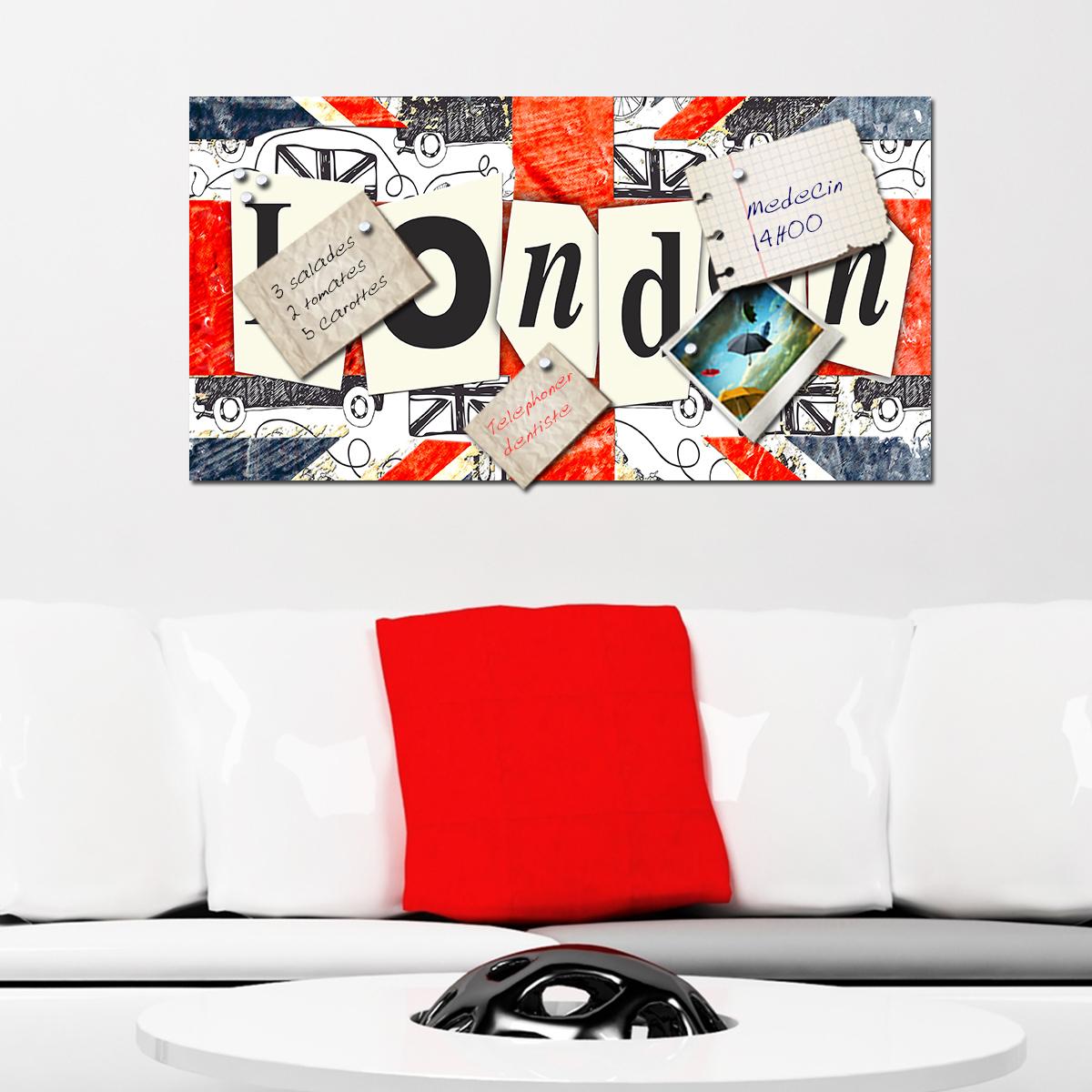 papier peint magn tique sticker papier peint magn tique london ambiance. Black Bedroom Furniture Sets. Home Design Ideas