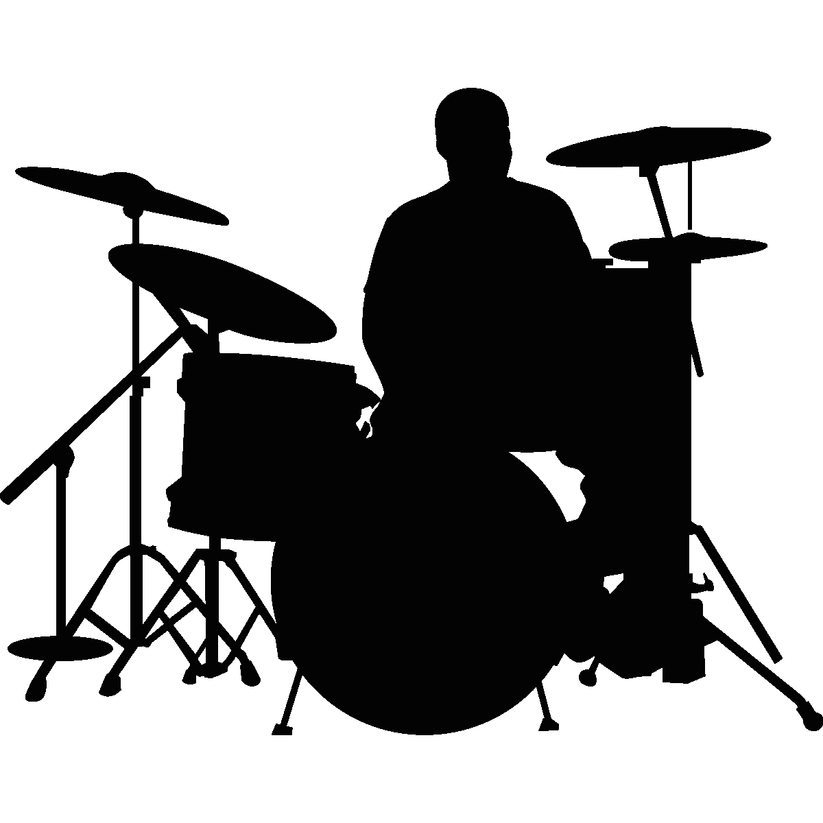 Wall decals music - Wall decal Drummer   Ambiance-sticker.com