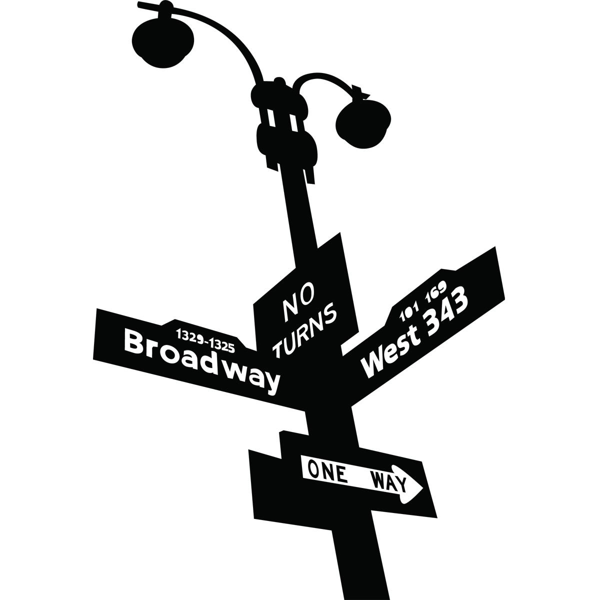 Préférence Stickers New York - Panneaux de signalisation dans New-York  WO35