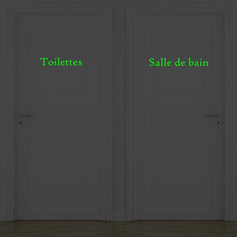 stickers portes salle de bain et toilettes phosphorescent stickers toilettes ambiance. Black Bedroom Furniture Sets. Home Design Ideas