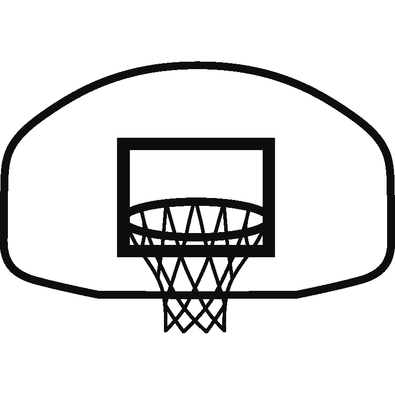 stickers muraux sport et football sticker panier de basket 2 ambiance. Black Bedroom Furniture Sets. Home Design Ideas