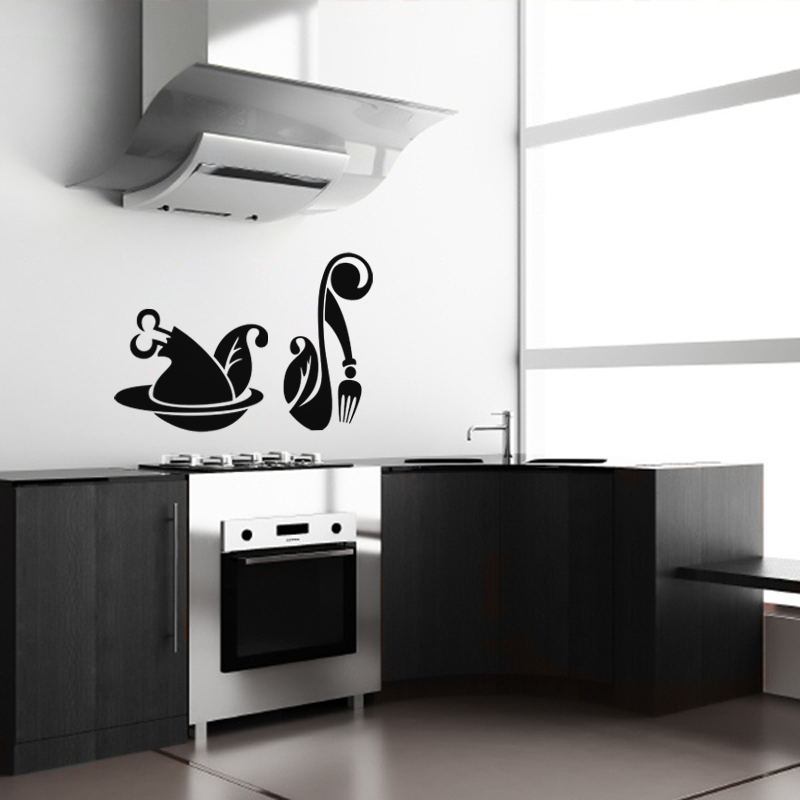 sticker design repas stickers muraux pour la cuisine ambiance. Black Bedroom Furniture Sets. Home Design Ideas