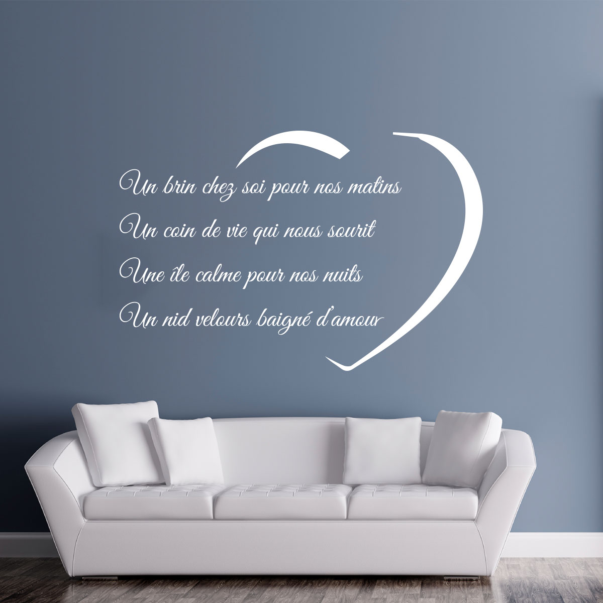 Sticker citation un brin chez soi stickers citations fran ais ambiance sticker - Stickers muraux citations chambre ...