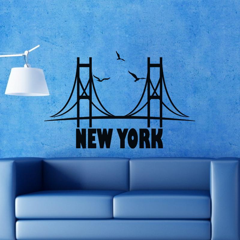 stickers muraux new york sticker sticker golden gate bridge ambiance. Black Bedroom Furniture Sets. Home Design Ideas