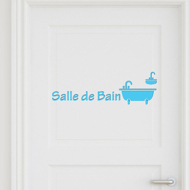 Sticker porte salle de bain 3 stickers portes salle de for Stickers salle de bain enfant