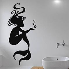 Stickers salle de bain stickers d co douche sticker for Miroir qui fait peur