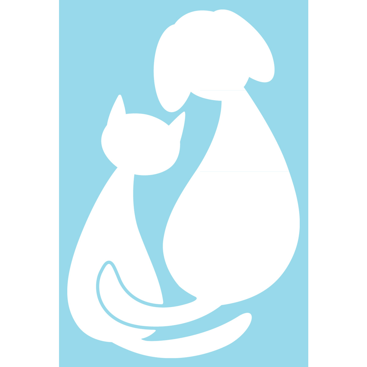 stickers chat et chien lectrostatiques. Black Bedroom Furniture Sets. Home Design Ideas