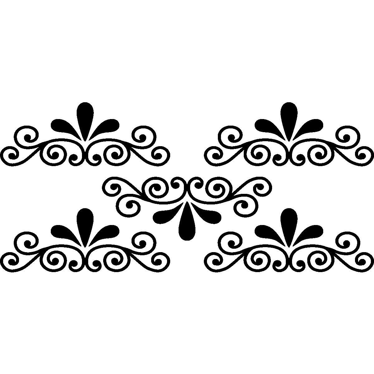 Stickers muraux design sticker mural ornement pour escalier ambiance stic - Stickers pour escalier ...