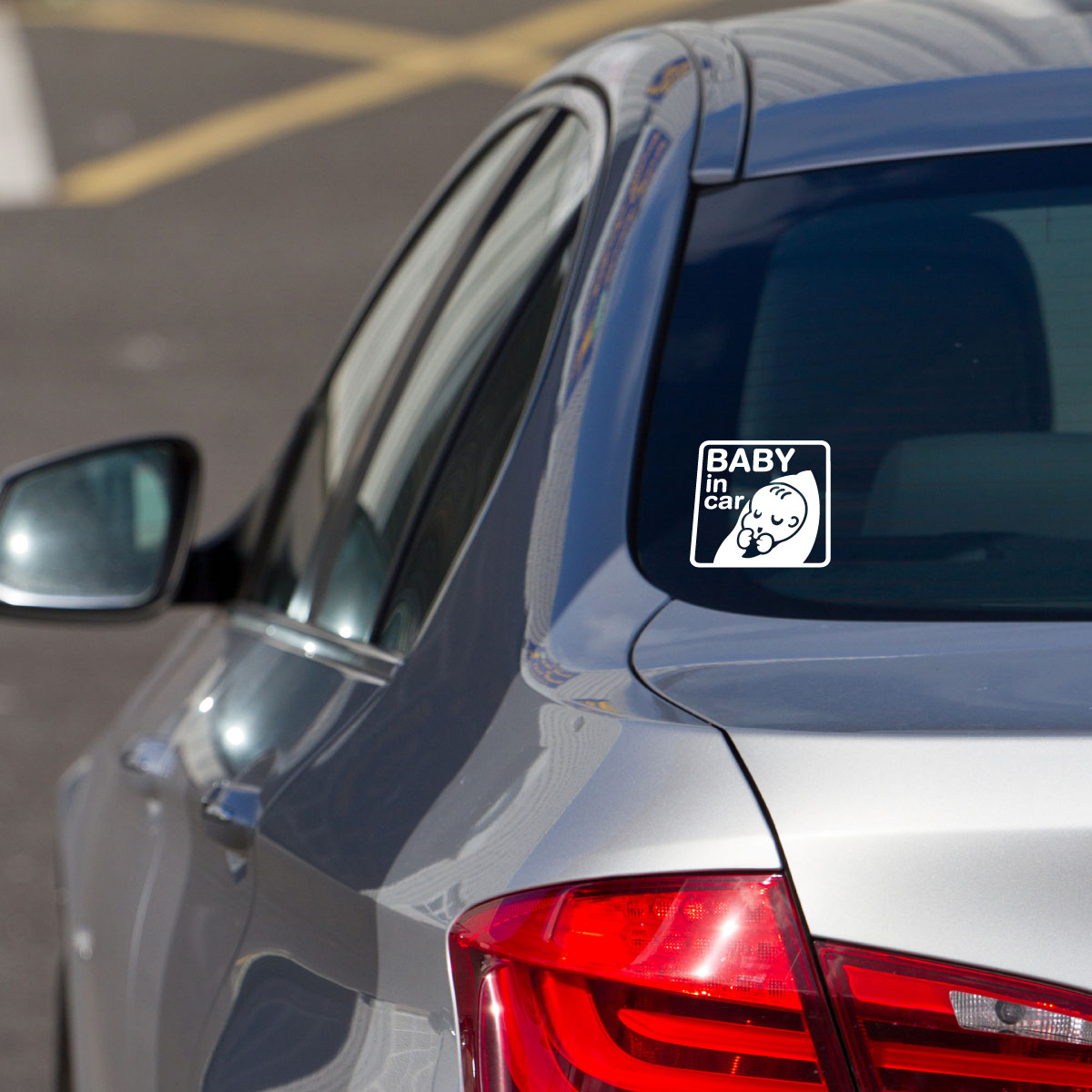 Stickers et autocollants voiture sticker b b nouveau n - Voiture 3 portes et bebe ...