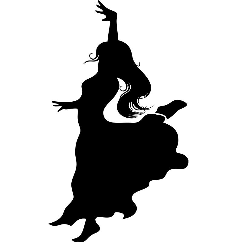 Stickers de silhouettes et personnages sticker figure - Danseuse flamenco dessin ...