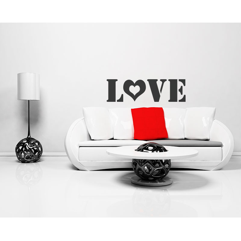 Stickers muraux pour chambre sticker love ambiance for Stickers muraux chambre