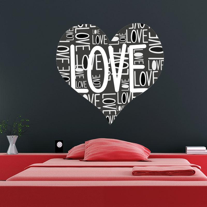 Stickers muraux pour chambre sticker love love love for Stickers chambre love